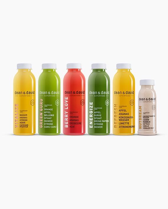 1 Tages Juice Cleanse Kaltgepresste Safte Dean David Superfood