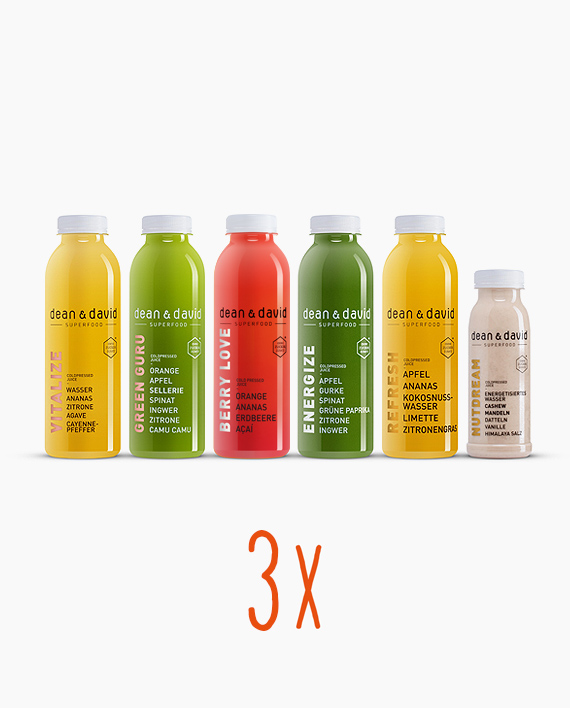 3 Tages Juice Cleanse Dean David