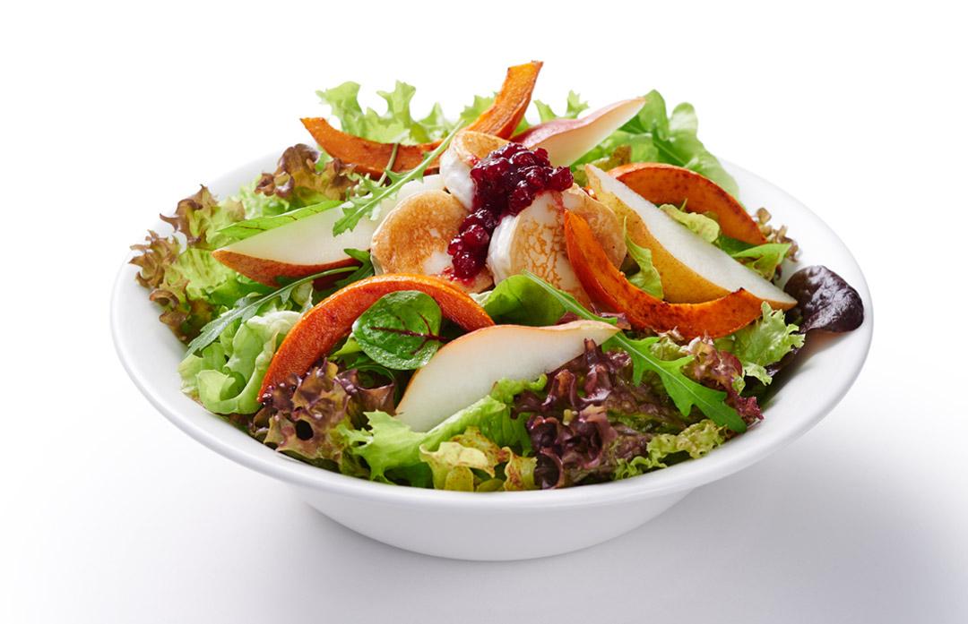 Kürbis-Ziegenkäse-Salat