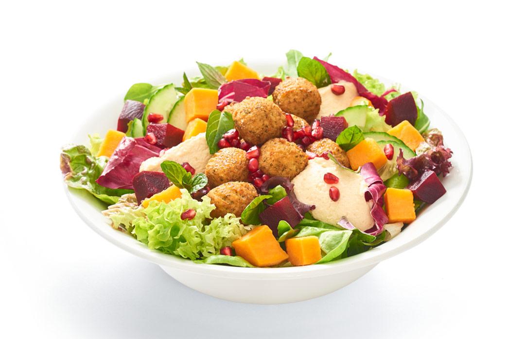 Falafel-Tahini-Salat